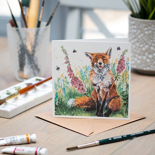 'Bee Happy' Fox Card
