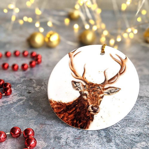 Stag Christmas Decoration