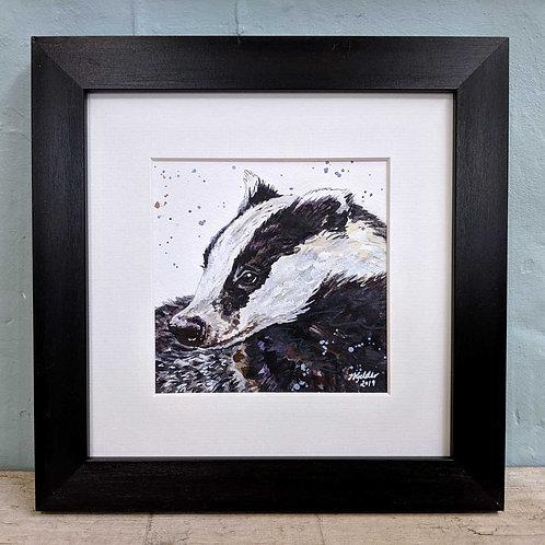 Benji Original Badger Painting