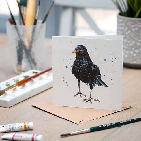 'Paul' Blackbird Card
