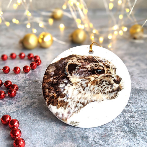 Otter Christmas Decoration