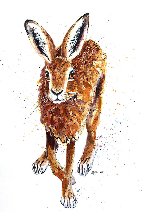 'Rocket' Original Hare Painting