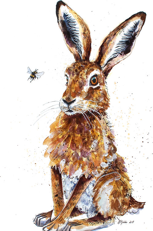'Loppy and Lou' Original Hare Painting