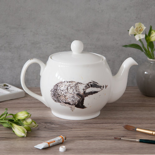 Badger & Bee Bone China Teapot