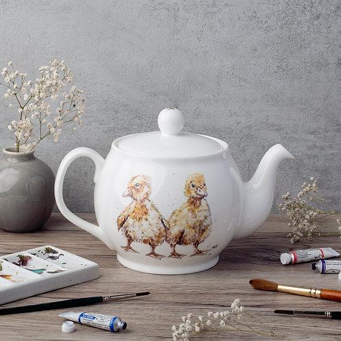 Ducklings Bone China Teapot