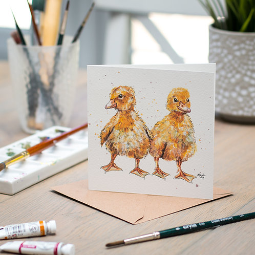 'Lemon and Drizzle' Duckling Card