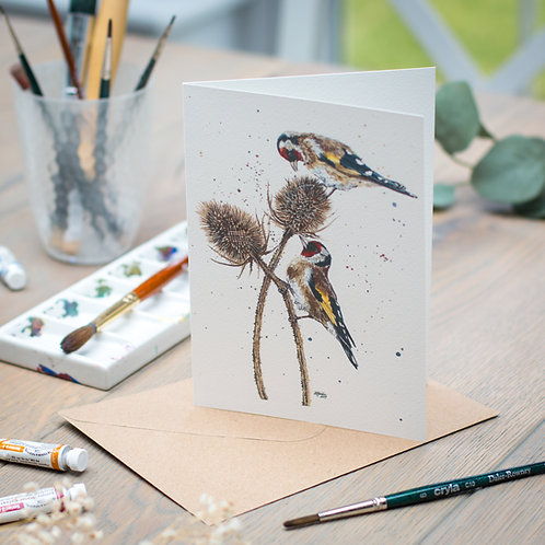 'Pleased to Meet You' Goldfinches Card