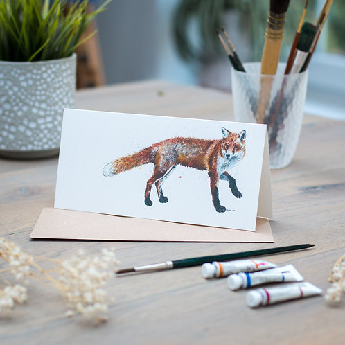 'Scout' Walking Fox Card