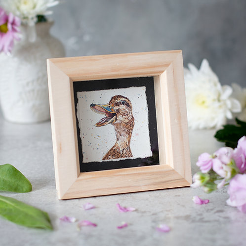 Happy Duck Mini Box Frame