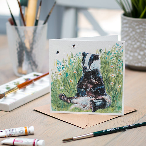'Helga' Badger Card