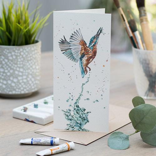'Gotcha' Kingfisher Card