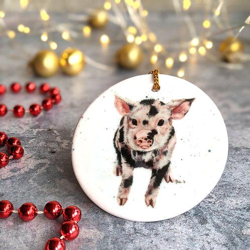 Piglet Christmas Decoration