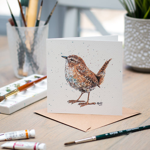 'Widget' Wren Card