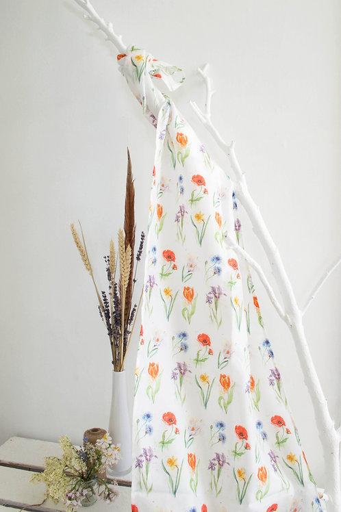 Floral Silk Scarf