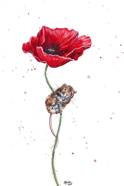 'Petal' Original Mouse Painting