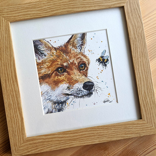 Finn Original Fox and Bee Painting