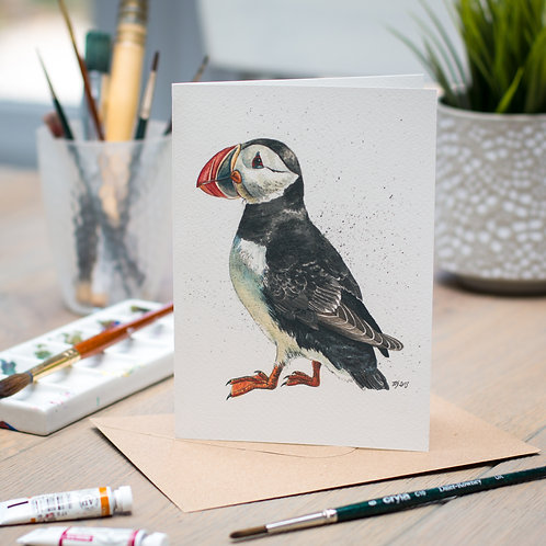 'Toodleloo' Puffin Card