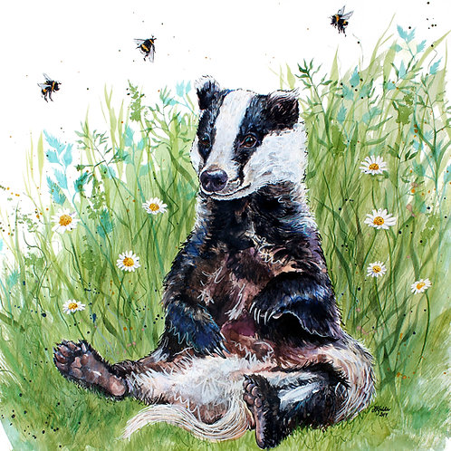 'Helga' Original Badger Painting