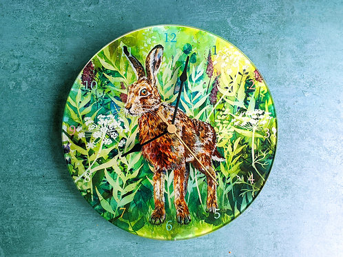Briony Hare Glass Clock