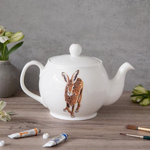 Running Hare Bone China Teapot