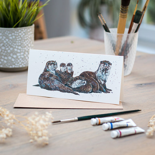 'Dosey Days' Otters Card