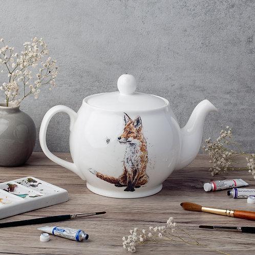 Fox & Bee Bone China Teapot