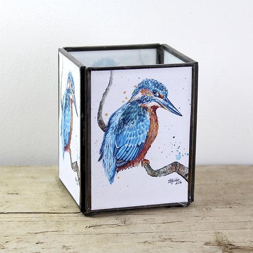Kingfisher Medium Tealight Lantern
