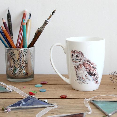 Tawny Owl Bone China Mug