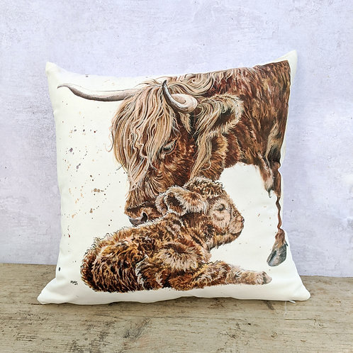 Highland Coos Soft Cushion
