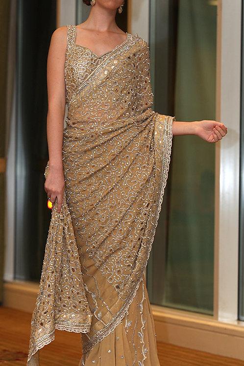 Saree -Gold
