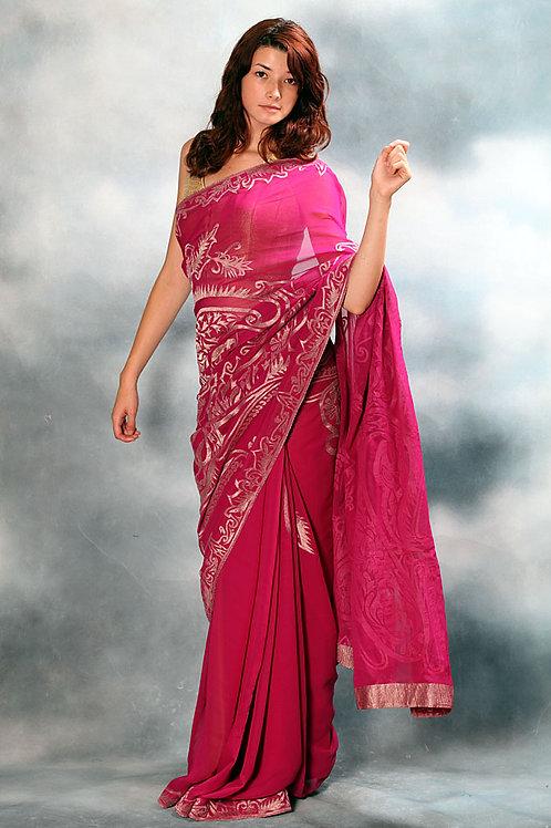 Rani Pink Saree