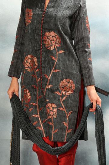 Salwar Suit Applique Work