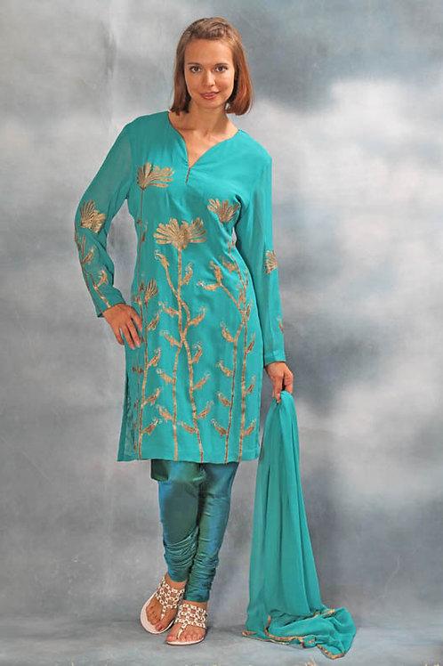 Teal Salwar Suit