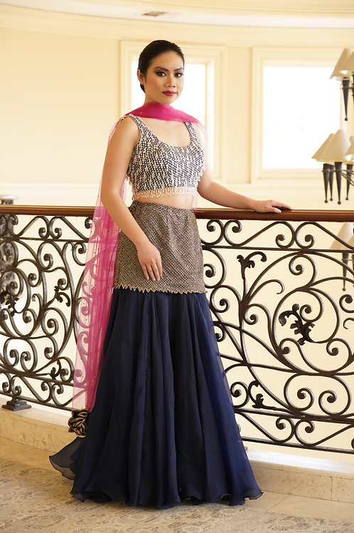 Midnight Blue Lehenga