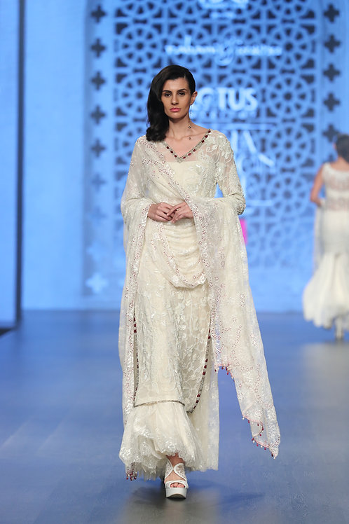 White Lace Sharara