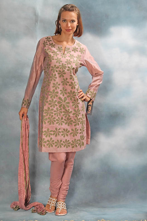 Salmon Pink Salwar Suit
