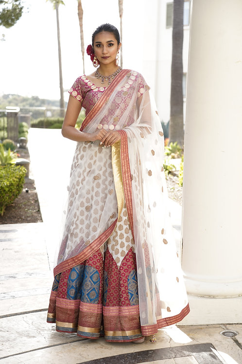 Traditional White Lehenga