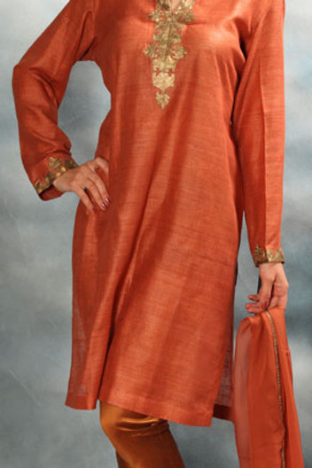 Brick Orange Salwar Suit
