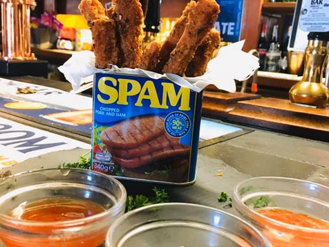 Spam Fritter bar snack