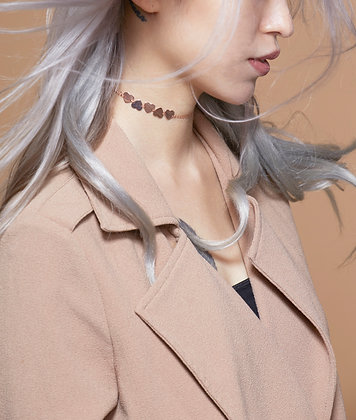 Elva Heart Choker (18K Rose Gold)
