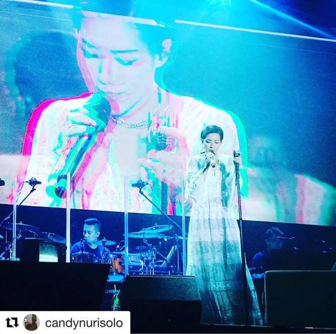 Candy Lo 盧巧音wearing our accessories for her concert❤️ #Repost @candynurisolo