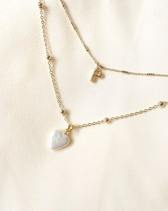 Customize heart necklace (18k gold)