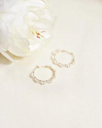 Mazu pearl earrings (18k gold)
