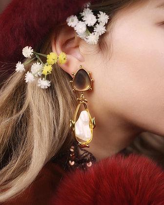 Giada Pearl Earrings (14k Gold)