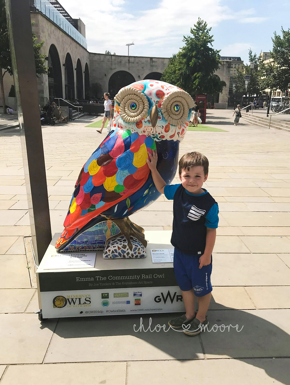 City of Bath, England Minerva's Owl trail. Activities for children, summer holidays