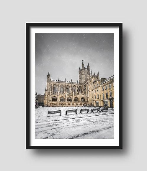 Abbey Courtyard Snow