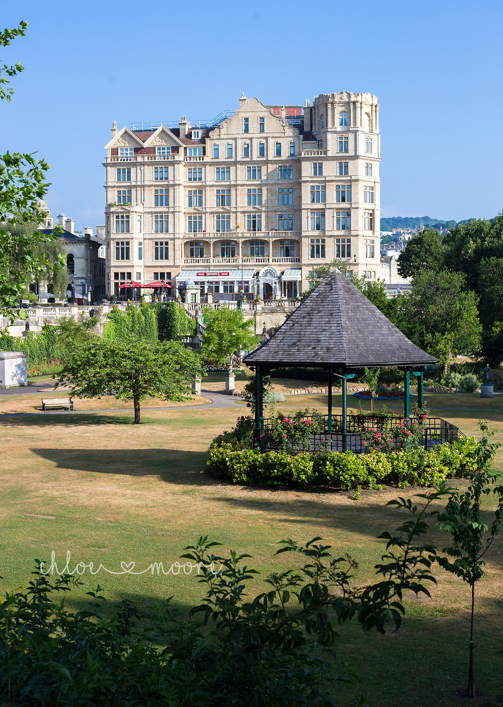 City of Bath, England. Parade Gardens. Activities for children, summer holidays