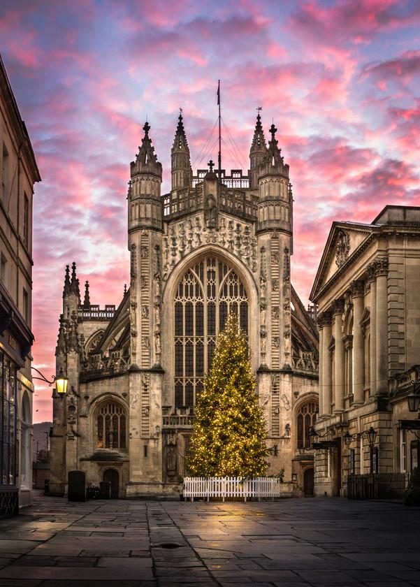 Bath Abbey Sunrise at Christmas