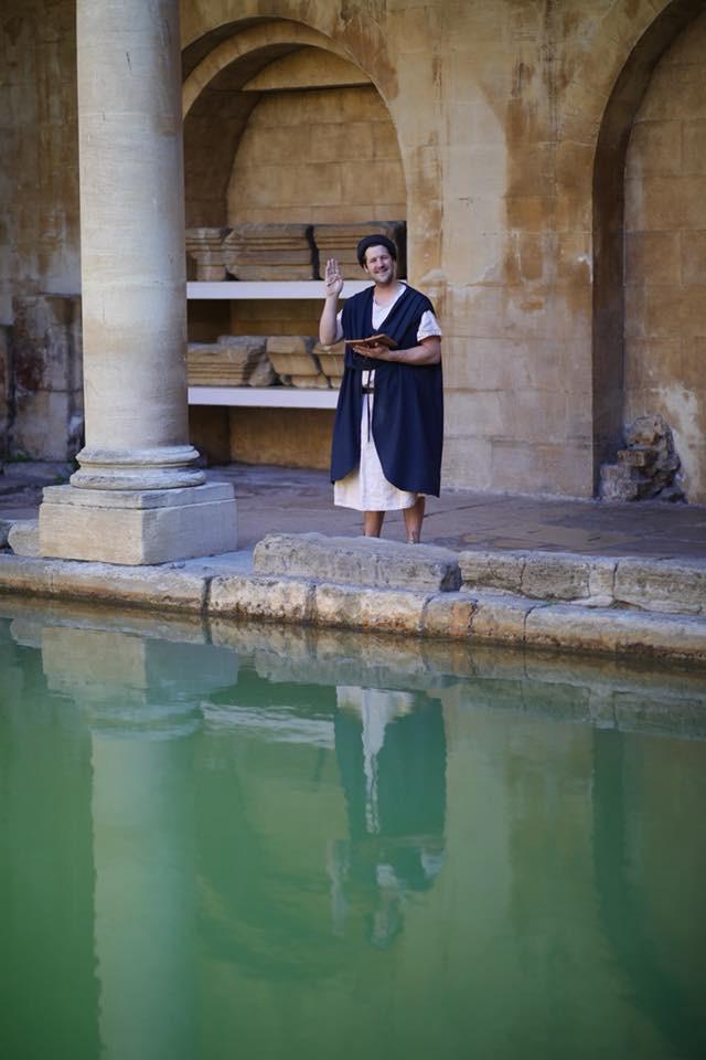 City of Bath, England. Roman Baths. Activities for children, summer holidays
