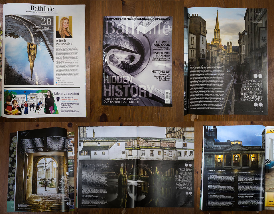 Bath Life magzine feature. Architecture photography. Published. England